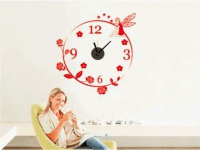 Hada Mágica, Reloj Pared Quartz, Vinilo Alta Calidad, Decorativo y Funcional, Hogar, Oficina, etc
