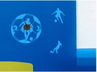 Fútbol, Reloj Pared Quartz, Vinilo Alta Calidad, Decorativo y Funcional, Hogar, Oficina, etc