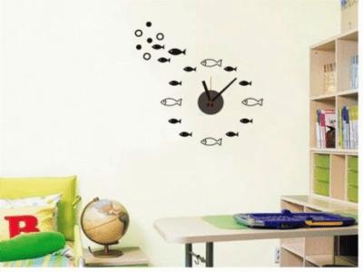 Pescado, Reloj Pared Quartz, Vinilo Alta Calidad, Decorativo y Funcional, Hogar, Oficina, etc