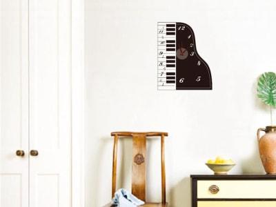 Musica de Piano, Reloj Pared Quartz, Vinilo Alta Calidad, Decorativo y Funcional, Hogar, Oficina, et