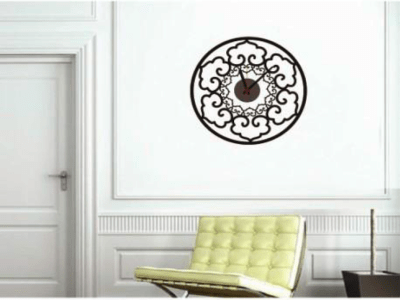 Diseño Abstract, Reloj Pared Quartz, Vinilo Alta Calidad, Decorativo y Funcional, Hogar, Oficina, et
