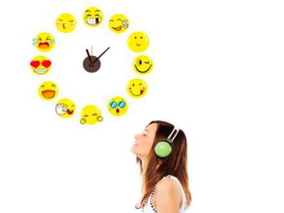 Emoji, Reloj Pared Quartz, Vinilo Alta Calidad, Decorativo y Funcional, Hogar, Oficina, etc