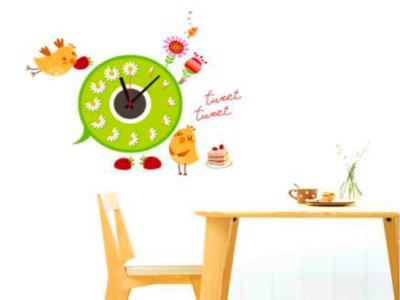 Pajaros, Reloj Pared Quartz, Vinilo Alta Calidad, Decorativo y Funcional, Hogar, Oficina, etc