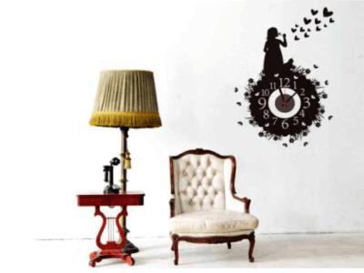 Niñas con Corazones, Reloj Pared Quartz, Vinilo Alta Calidad, Decorativo y Funcional, Hogar, Oficina