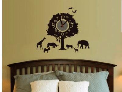 Animales Africanos, Reloj Pared Quartz, Vinilo Alta Calidad, Decorativo y Funcional, Hogar, Oficina,