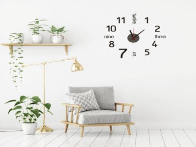 Reloj Moderno, Reloj Pared Quartz, Vinilo Alta Calidad, Decorativo y Funcional, Hogar, Oficina, etc