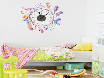 Atrapasueños, Reloj Pared Quartz, Vinilo Alta Calidad, Decorativo y Funcional, Hogar, Oficina, etc