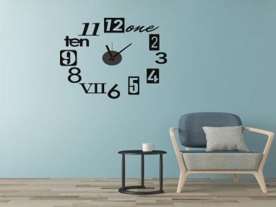 Flores y Mariposas, Reloj Pared Quartz, Vinilo Alta Calidad, Decorativo y Funcional, Hogar, Oficina,