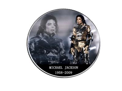 Moneda Coleccionista Alta Artesanía del ídolo del POP, Michael Jackson, Tamaño 40x3mm, Moneda Nº3