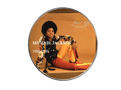 Moneda Coleccionista Alta Artesanía del ídolo del POP, Michael Jackson, Tamaño 40x3mm, Moneda Nº7