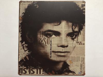 Cartel Vintage Michael Jackson Coleccionista, Acero Alta Calidad, duradero, Decorativo