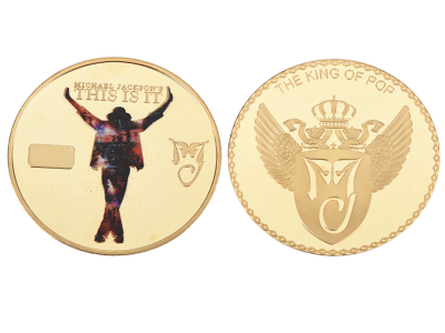 "Moneda conmemorativa del rey del pop Michael Jackson ""This is it"""
