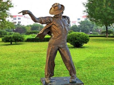 Escultura Exterior de Michael Jackson en Metal / Bronce Nº2, Tamaño Real