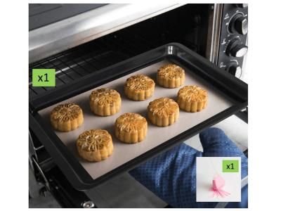 Pack Molde para Hornear Antiadherente de Carbono con forma Rectangular para Pasteles, Pan, Pizza, Ga