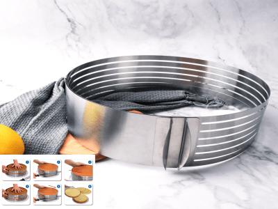 """Rebanadora Circular Ajustable de Acero Inoxidable de 9.4-11.8""""/24-30cm, Alta Calidad"""