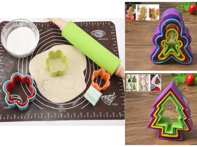 (Pack 15 Moldes: Flor (5pcs) + Humano (5pcs) + Árbol (5pcs), Plático Grado Alimenticio, Antiadherent