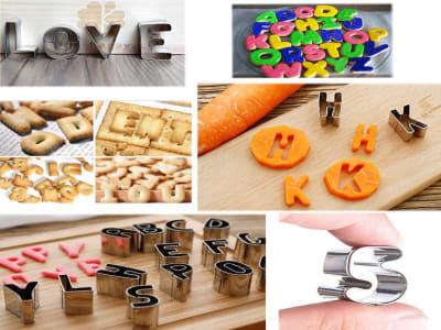 26 piezas, Juego de Cortadores de Acero Inoxidable en forma de Letras para galletas, Alta Calidad