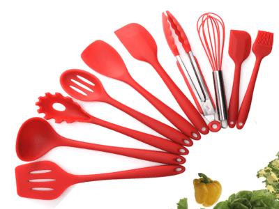 10 piezas, Juego de Utensilios de Silicona Resistentes al Calor para Cocina, Alta Calidad