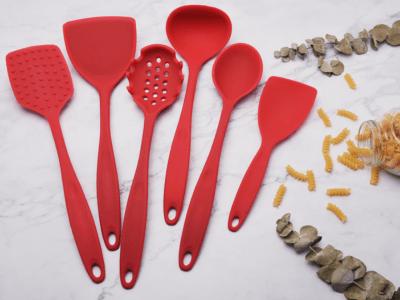 Set 6 piezas, Juego de Utensilios de Silicona Anti-Adherente Resistente al calor para Cocinar, Alta