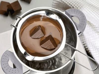 Olla de Acero Inoxidable para Baño María para Derretir Chocolate, Dulces, Queso, hacer Velas, Alta C