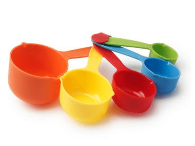 Pack 5 Piezas, Juego de 5 Cucharas Medidoras de Plástico, Multicolor, Alta Calidad