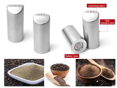 Sazonador de Sal, Pimienta y Especias de Acero Inoxidable, Alta Calidad