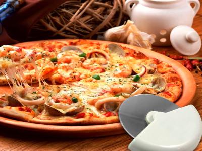 Pack 3 Piezas, Cortador de Pizza de Rueda de Acero Inoxidable con Mango de Plástico, Alta Calidad