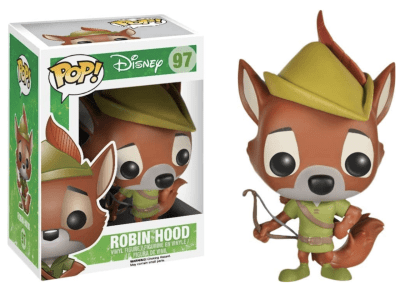 POP, Figura de Vinilo Coleccionable, Disney, Robin Hood, Nº97