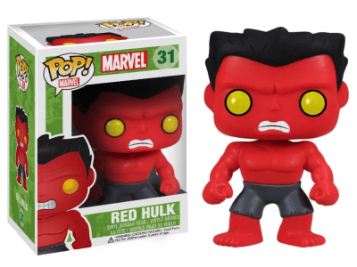 POP, Figura de Vinilo Coleccionable, Marvel, Red Hulk, Nº31