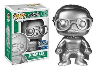 POP, Figura de Vinilo Coleccionable, Stan Lee, Stan Lee Silver, Nº03