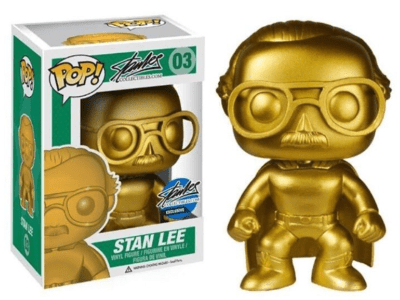 POP, Figura de Vinilo Coleccionable, Stan Lee, Stan Lee Gold, Nº03