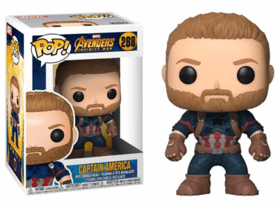 POP, Figura de Vinilo Coleccionable, Marvel, Captain America, Nº288