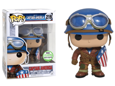 POP, Figura de Vinilo Coleccionable, Marvel, Captain America, Nº219