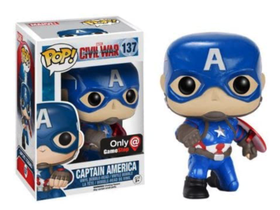 POP, Figura de Vinilo Coleccionable, Marvel, Captain America, Nº137