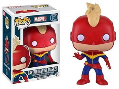 POP, Figura de Vinilo Coleccionable, Marvel, Captain Marvel Masked, Nº154