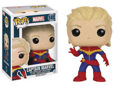 POP, Figura de Vinilo Coleccionable, Marvel, Captain Marvel, Nº148