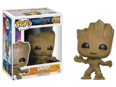 POP, Figura de Vinilo Coleccionable, Marvel, Groot, Nº202
