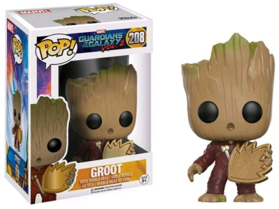 POP, Figura de Vinilo Coleccionable, Marvel, Groot, Nº208