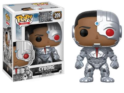 POP, Figura de Vinilo Coleccionable, Super Heroes DC, Cyborg, Nº209