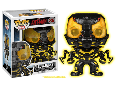 POP, Figura de Vinilo Coleccionable, Marvel, Ant-Man Yellow Jacket, Nº86