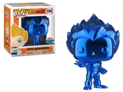POP, Figura de Vinilo Coleccionable, Dragon Ball, Super Saiyan Vegeta (Blue), Nº154