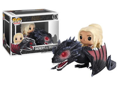 POP, Figura de Vinilo Coleccionable, Game of Thrones, Daenerys & Drogon, Nº15