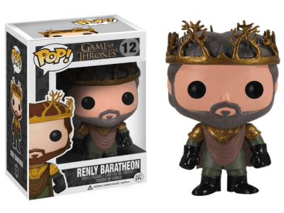 POP, Figura de Vinilo Coleccionable, Game of Thrones, Renly Baratheon, Nº12