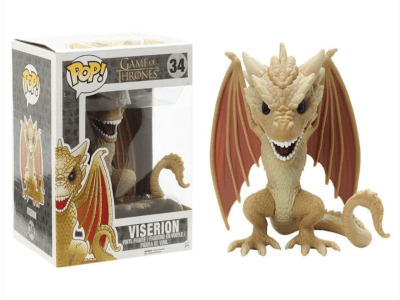 POP, Figura de Vinilo Coleccionable, Game of Thrones, Viserion (Big), Nº34