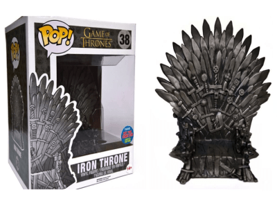 POP, Figura de Vinilo Coleccionable, Game of Thrones, Iron Throne (Big), Nº38