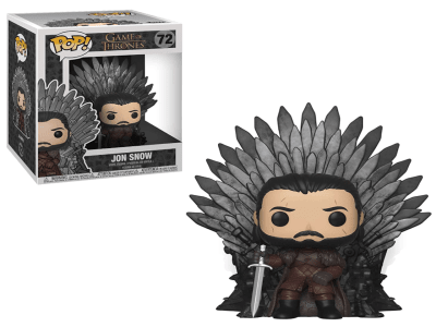 POP, Figura de Vinilo Coleccionable, Game of Thrones, Jon Snow (Big), Nº72