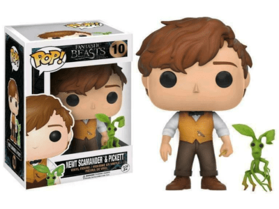 POP, Figura de Vinilo Coleccionable, Fantasic Beasts, Newt Sacamander & Pickett, Nº10