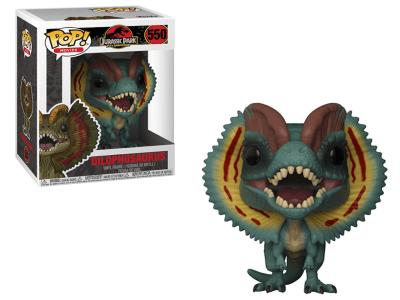 POP, Figura de Vinilo Coleccionable, Jurassic Park, Dilophosaurus, Nº550