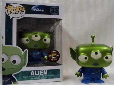 POP, Figura de Vinilo Coleccionable, Toy Story, Alien (Electroplate), Nº33