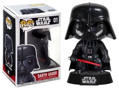 POP, Figura de Vinilo Coleccionable, Star Wars,, Darth Vader, Nº01